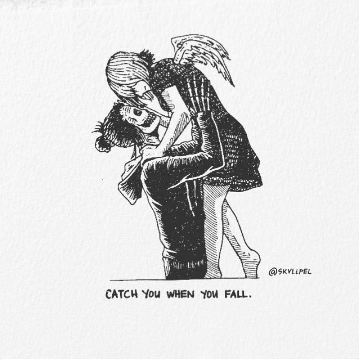 Artist's Skeletal Illustrations Show The Glimpse Of Intense Love With Beautiful Messages-24