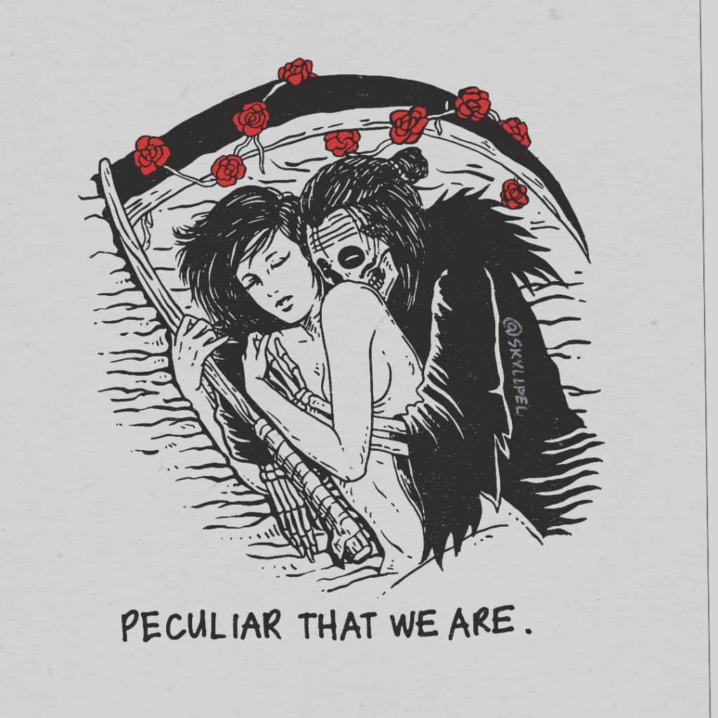 Artist's Skeletal Illustrations Show The Glimpse Of Intense Love With Beautiful Messages-3