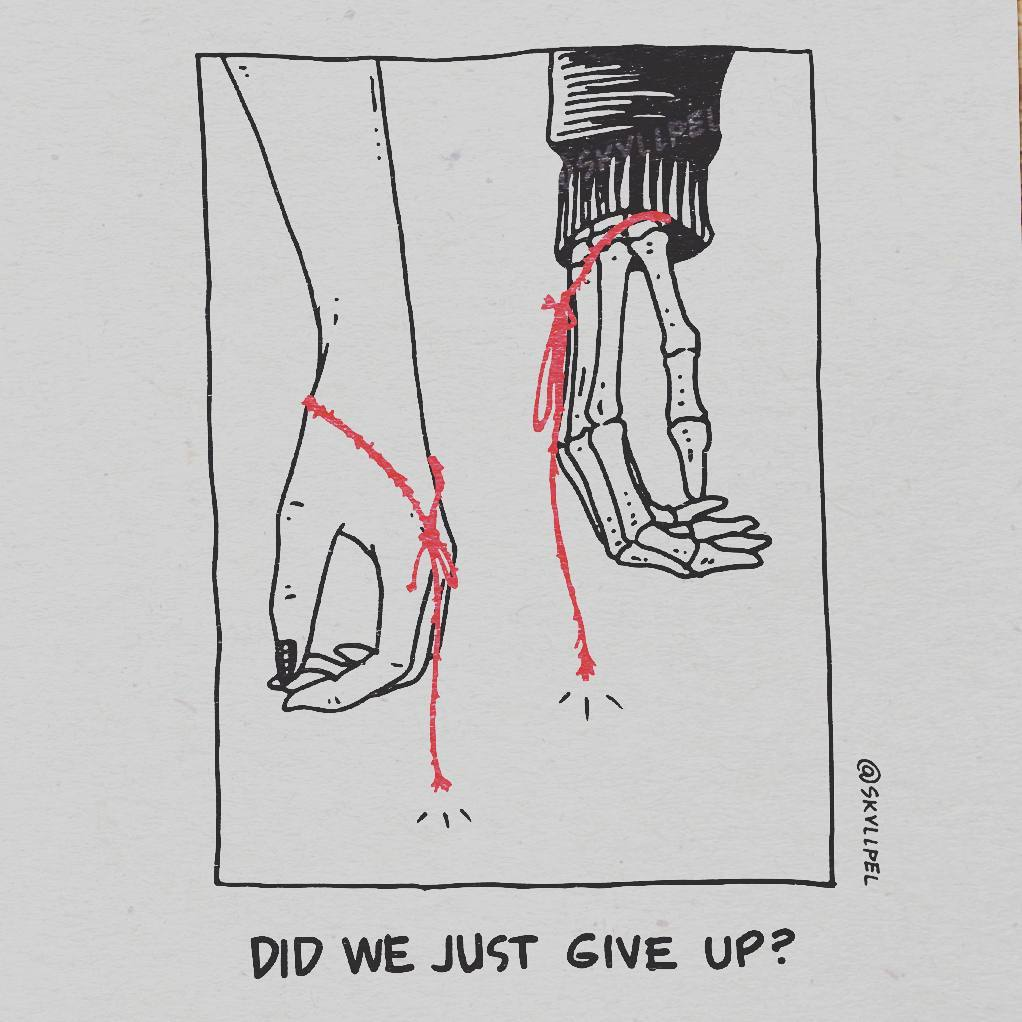 Artist's Skeletal Illustrations Show The Glimpse Of Intense Love With Beautiful Messages-9