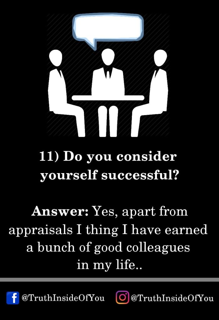 11. Do you consider yourself successful_
