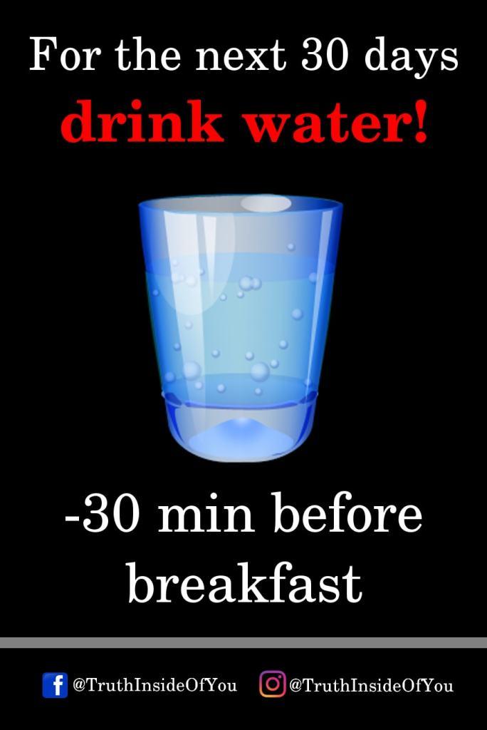 2. 30 min before breakfast