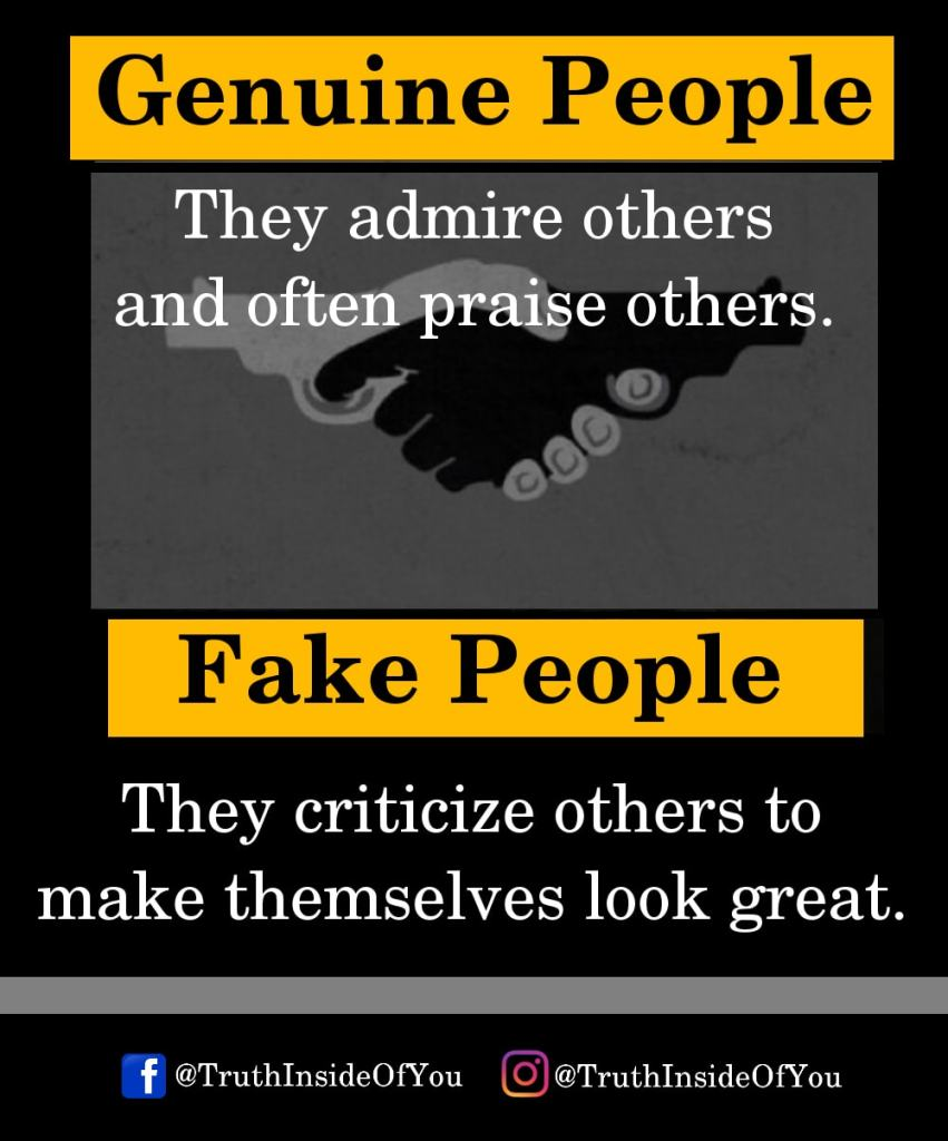 They admire others and often praise others. They criticize others to make themselves look great.