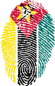 Mozambique thumbprint flag