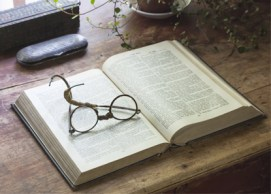 Bible and glasses