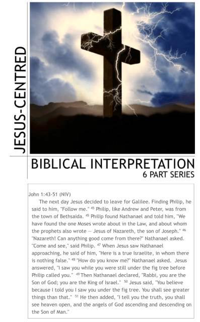 Biblical interpretation series text John 1