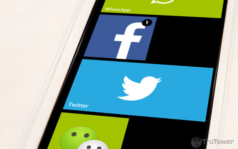 WhatsApp, Facebook and Twitter, WeChat