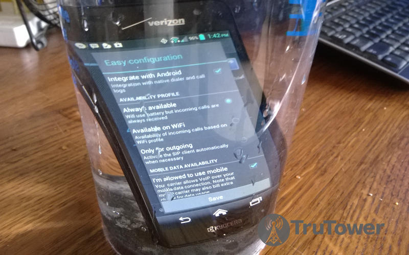 Kyocera Hydro Elite, Waterproof Smartphones, Android water resistant phone