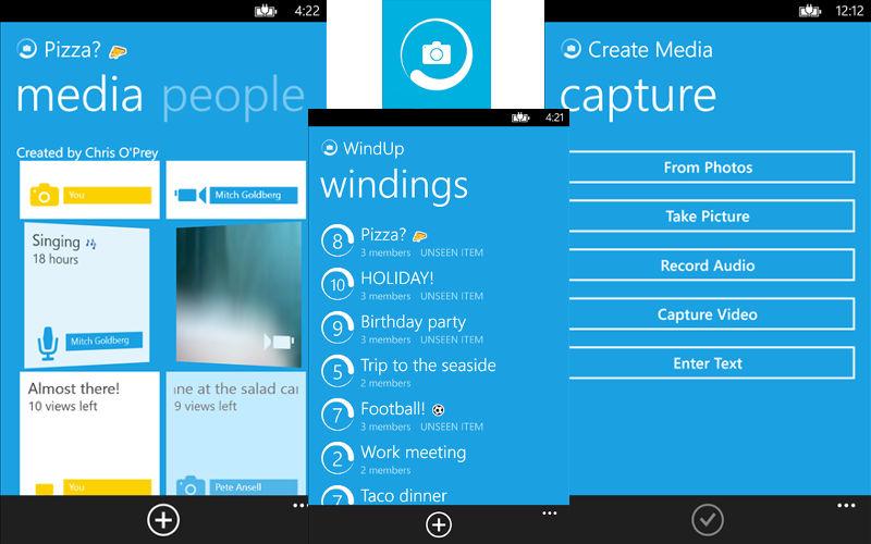 WindUp App, Snapchat Alternative, Snapchat for Windows Phone