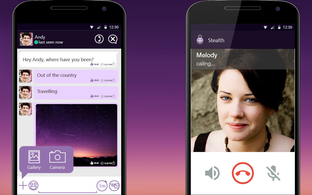 Stealth Messenger, StealthChat, Private messaging