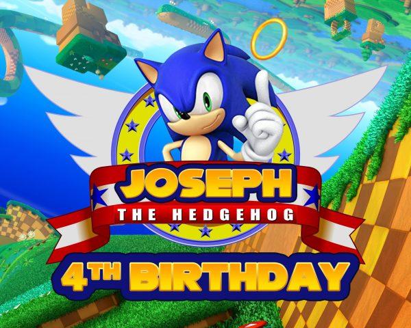 Sonic The Hedgehog Birthday Banner