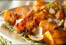 savory herbal sweet potatoes