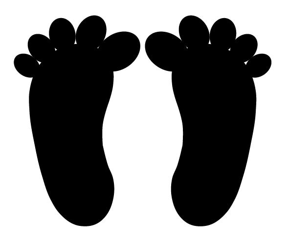 fødder gulvfolie sorte