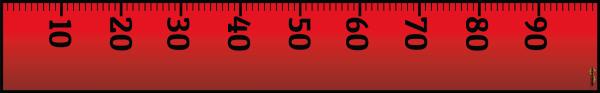 Rød lineal