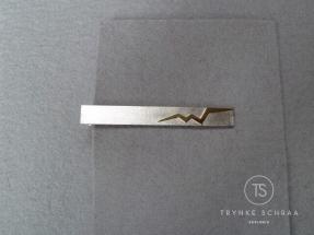 Zilver met goud dasspeld