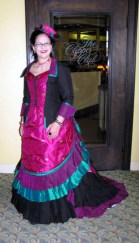 Peacock bustle gown at CoCo