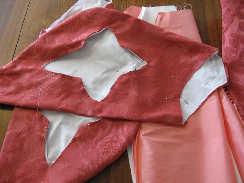 Pink Florentine sleeves