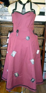 Lady artisan's apron with patches