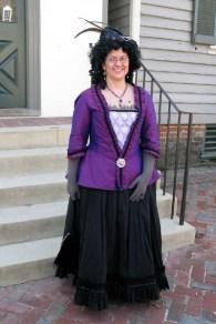 Trystan's 18th-c. purple silk jacket