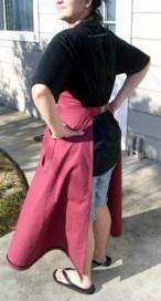 Back of lady artisan's apron