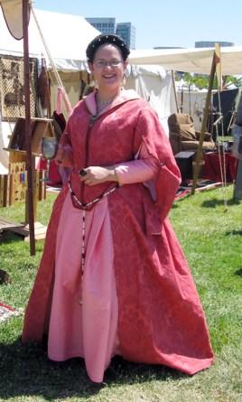 Pink Florentine gown, worn at the SJ renfaire