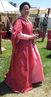 Pink Florentine gown