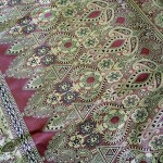 Detail of the sari patterned end