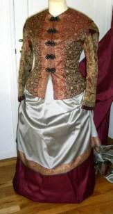 Burgundy skirt option
