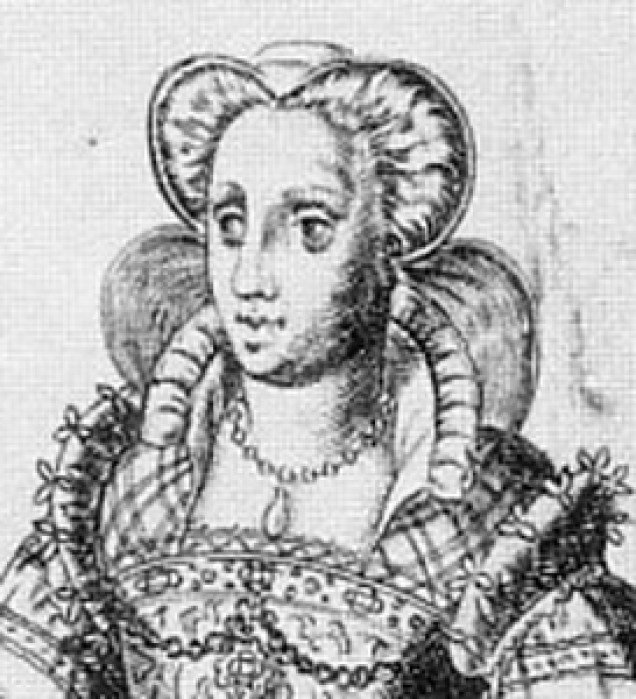 1577 - French noblewoman from Omnium Poene Gentium Imagines by Abraham de Bruyn (image source: elizabethan-portraits.com)