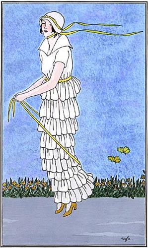Journal des Dames et des Modes, May 1914, day dress (image source: University of Washington Libraries)