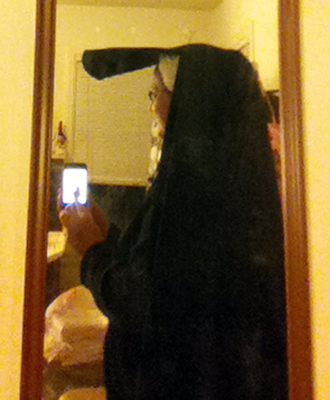 side view of me in heuke, crappy mirror pic