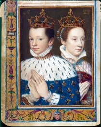 1558 - Mary Queen of Scots & King Francois II of France (image source: Bibliotheque Nationale de France)