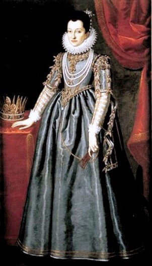 1565-1637 - Christina of Lorraine, Grand Duchess of Tuscany, by Scipione Pulzone (image source: Wikimedia Commons)