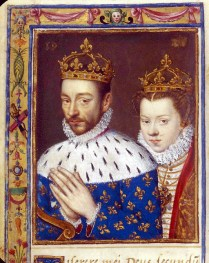 1570 - Elisabeth of Austria & King Charles IX of France (image source: Bibliotheque Nationale de France)