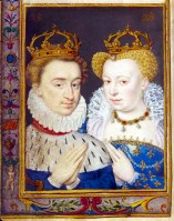 1572 - Marguerite de Valois & Henri de Navarre (image source: Bibliotheque Nationale de France)