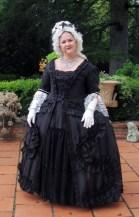 black silk robe a la francaise