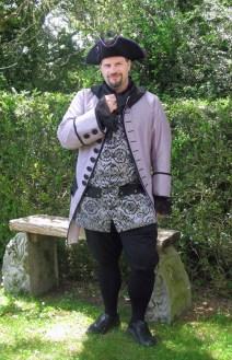 New coat worn with old waistcoat