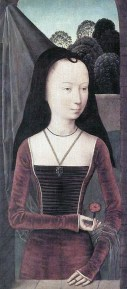 1485-90, Diptych With the Allegory of True Love by Hans Memling of Seligenstadt/Bruges