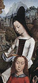 1488, detail of St. Margaret from The Virgin Surrounded by Female Saints by unknown master from Bruges