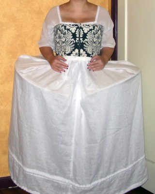 with corded petticoat