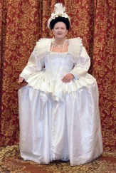 1590s wheel farthingale gown, photo by Joel Schonbrunn