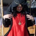 Black Fleur-de-Lis Gown & Red Sideless Surcote