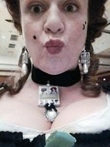 Karen's selfie with book jewlery