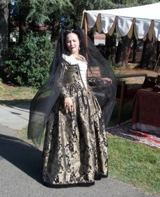 black & gold venetian courtesan gown