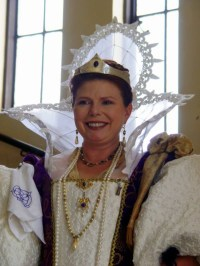 Marguerite at Mists Spring Investiture, photo by Sandra Linehan.