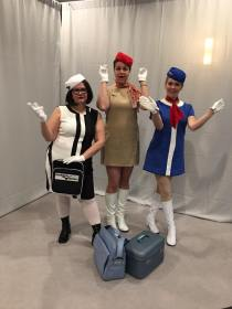 1960s stewardesses at Costume College 2017
