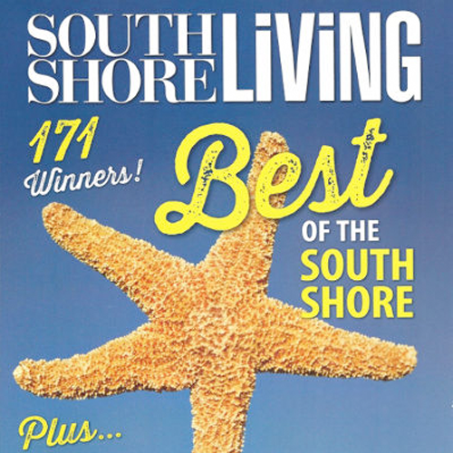 Best of South Shore Living Magazine, 2014, 2013, 2012, 2011, Multi-Year Best of Award Receipient