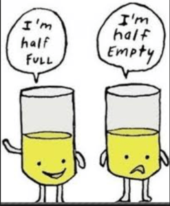 Glass Half Full or Half Empty.