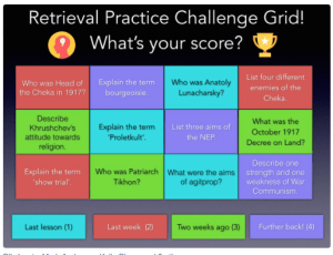 Challenge Grid-Do You Remember?