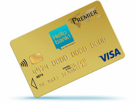 Carte premier Hello Bank