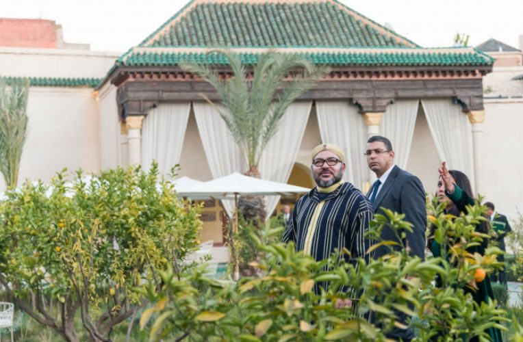 Mohammed VI à Marrakech en janvier 2017. MAP
